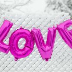 kaboompics_Pink Balloons in shape of the Love Word